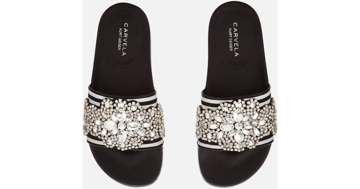 bd338036b8d Carvela Kurt Geiger Black Kath Slide Sandals
