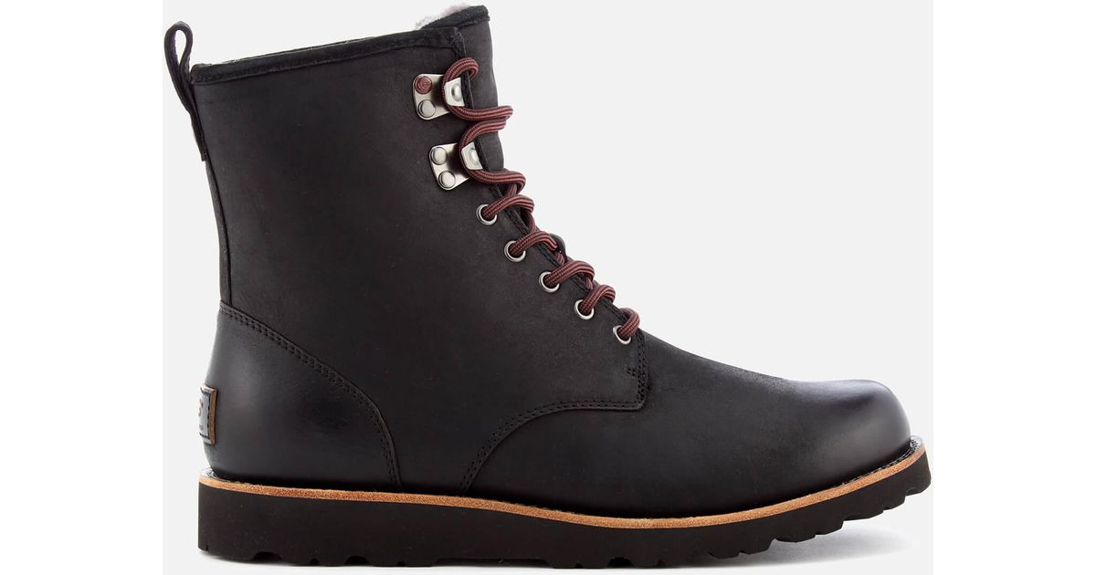 Lyst - Ugg Men's Hannen Tl Waterproof Leather Lace Up Boots in Black for Men