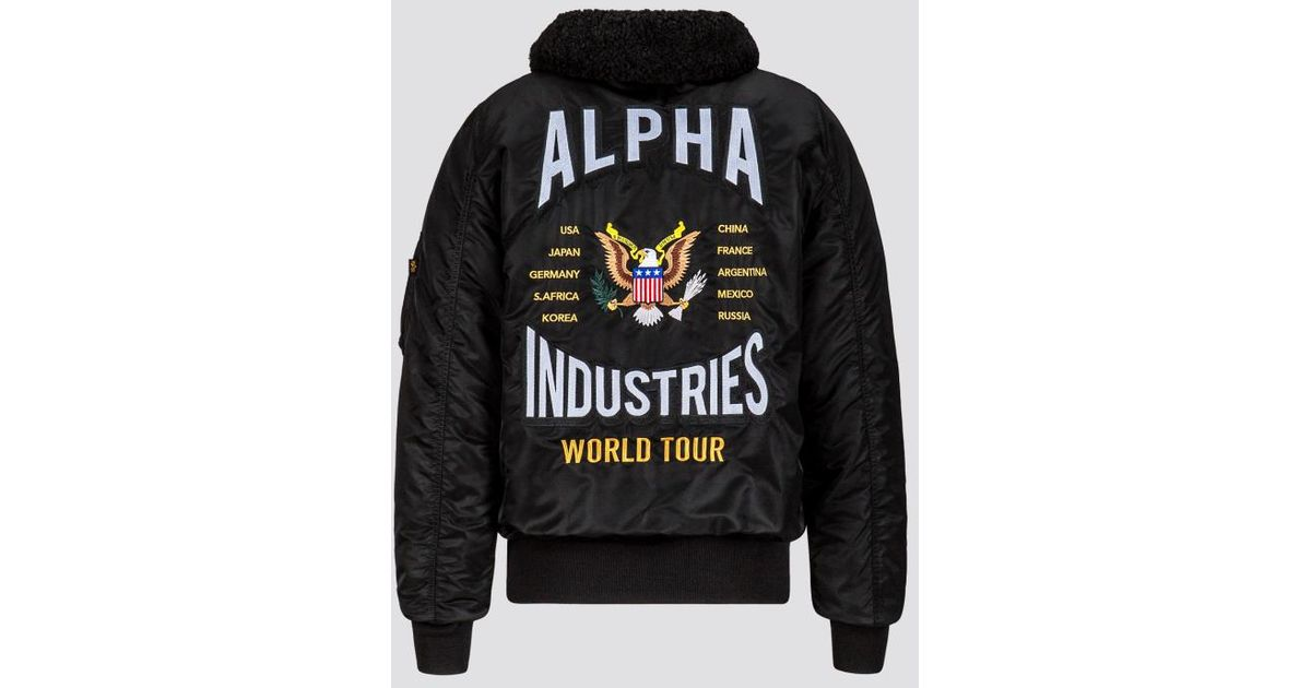 best loved 6064e 0856f Alpha Industries Black B-15 Coalition Forces Flight Jacket for men