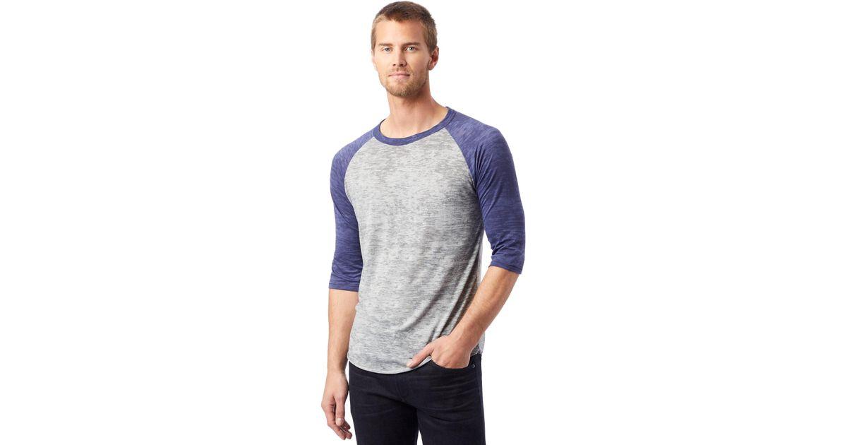 8441fac7 Lyst - Alternative Apparel Big League Burnout Baseball T-shirt in Gray for  Men
