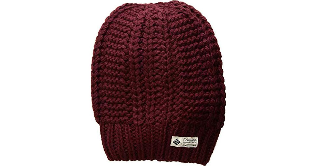 49555b4fe5a61 Lyst - Columbia Hideaway Haven Slouchy Beanie in Red