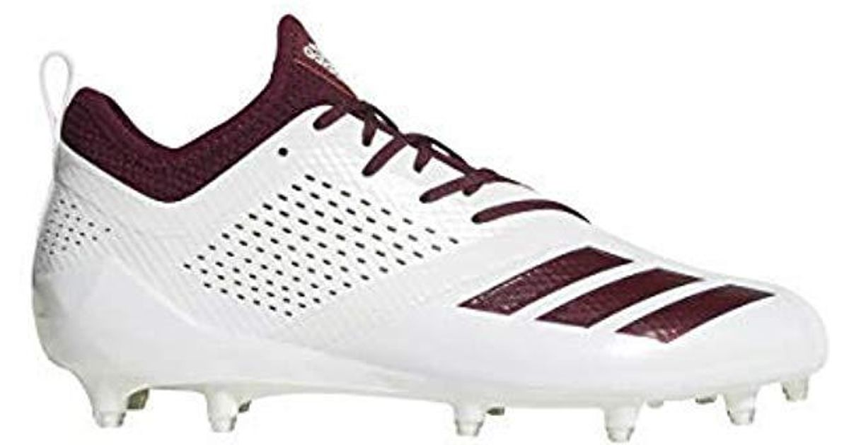 sports shoes 5fb42 1a5c5 Adidas - White Adizero 5-star 7.0 Tagged Cleats for Men - Ly