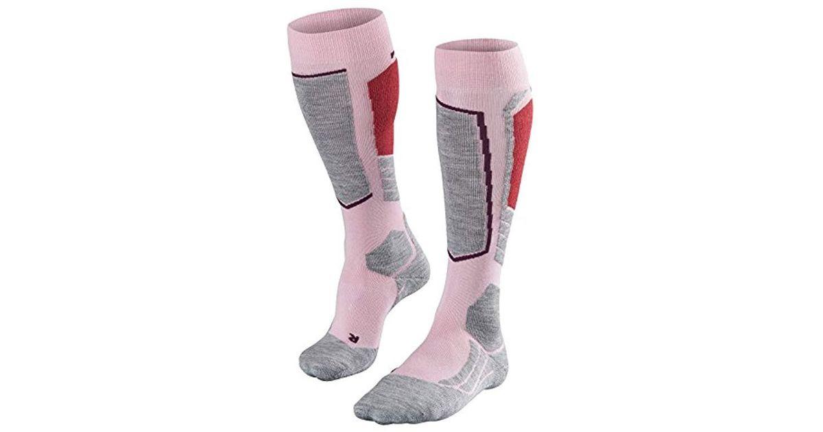 1 Pair In Black FALKE Womens SK2 Skiing Socks US sizes 6.5 to 10.5 White or Pink Merino Wool Blend
