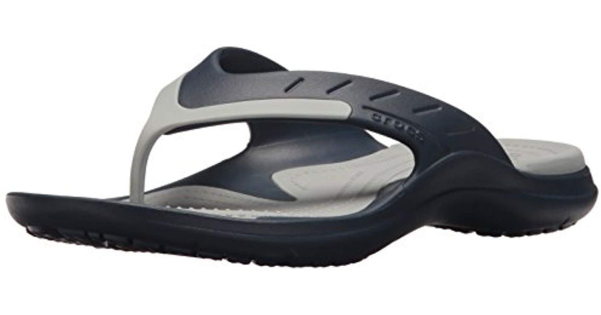 e03feb7e8c7 Lyst - Crocs™ Modi Sport Flip Sandal, Navy/light Grey, 11 Us / 13 Us in Gray