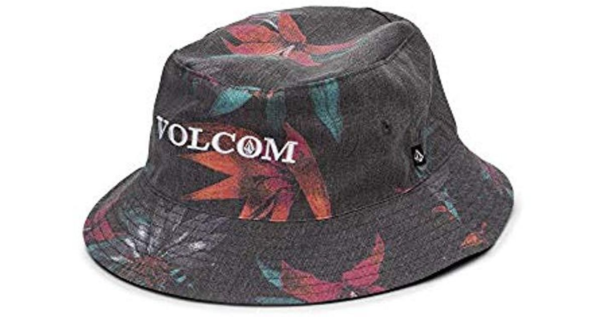 f52b65a79 Volcom Black Verano Stone 3 Panel Bucket Hat for men