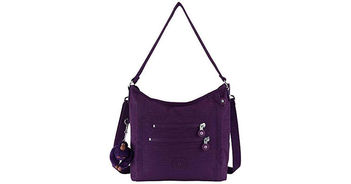 Lyst Kipling Bellamie Solid Handbag Deep Purple In Save 18 0