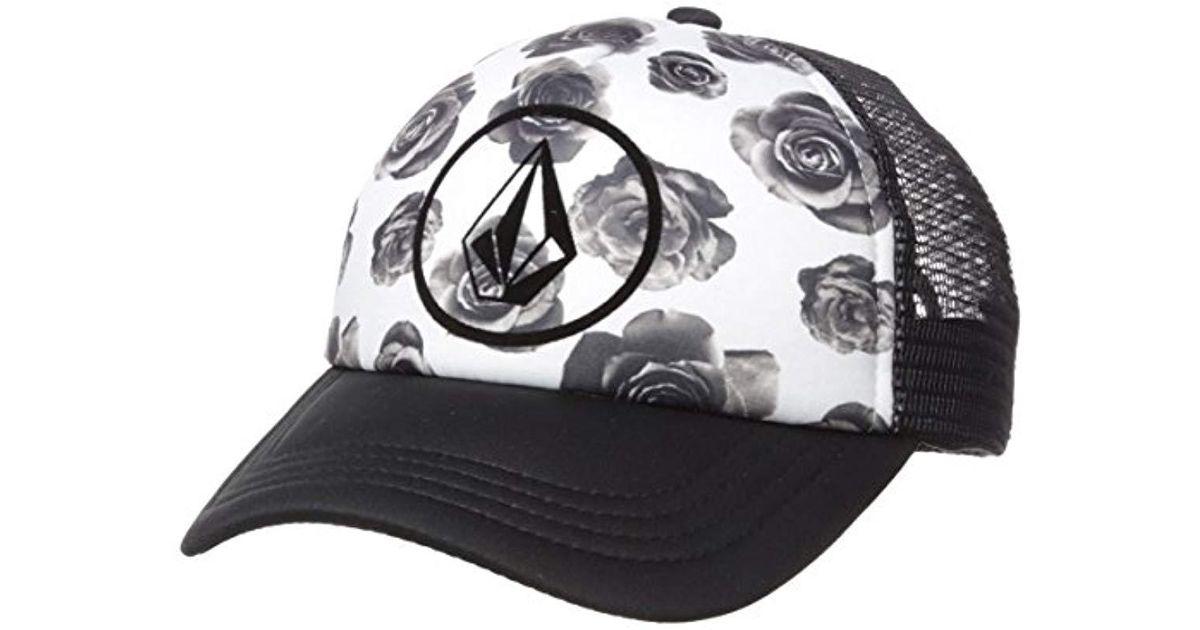 95daf5ec764 ... switzerland lyst volcom lost marbles curved brim mesh hat in black  2fcb8 0a0ad