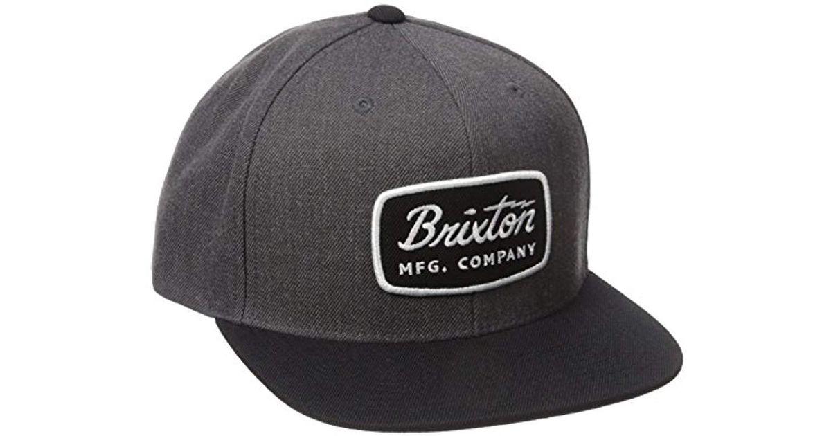 bd18cc23a4216 Lyst - Brixton Jolt Medium Profile Adjustable Snapback Hat in Gray for Men