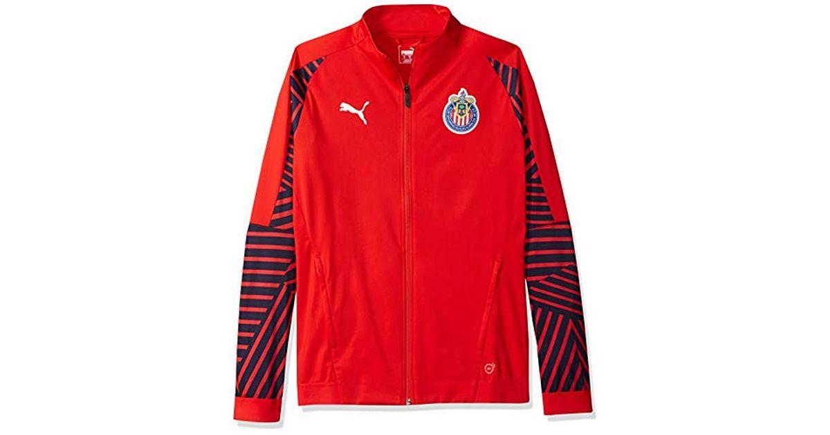 half off 8a251 93b31 PUMA Red Chivas Stadium Jacket for men