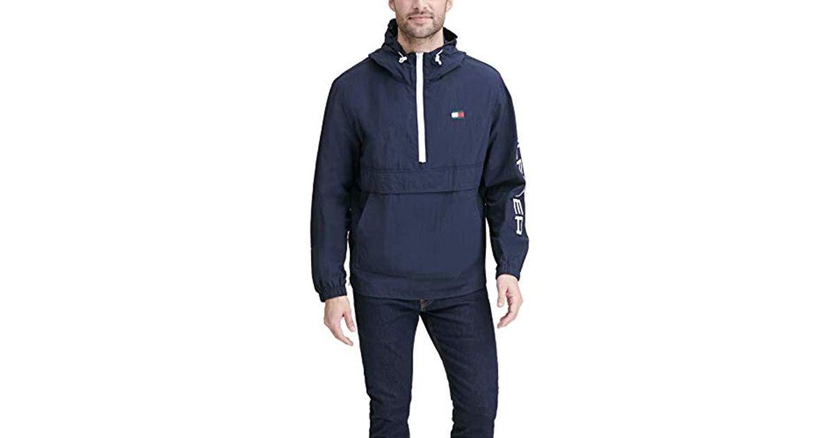 e5a10d0b0 Tommy Hilfiger Blue Retro Lightweight Taslan Popover Jacket for men
