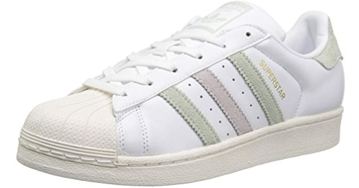 uk availability 812f6 93d9e Lyst - adidas Originals Superstar Shoes Running, White linen Green Ice  Purple Fabric, (11 M Us) in White