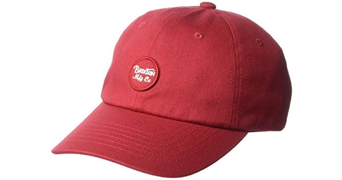 Brixton Mens Wheeler Low Profile Adjustable Hat