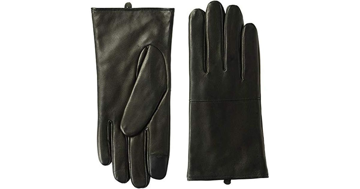 Cole Haan Mens Lambskin Leather Glove With Horizontal Point
