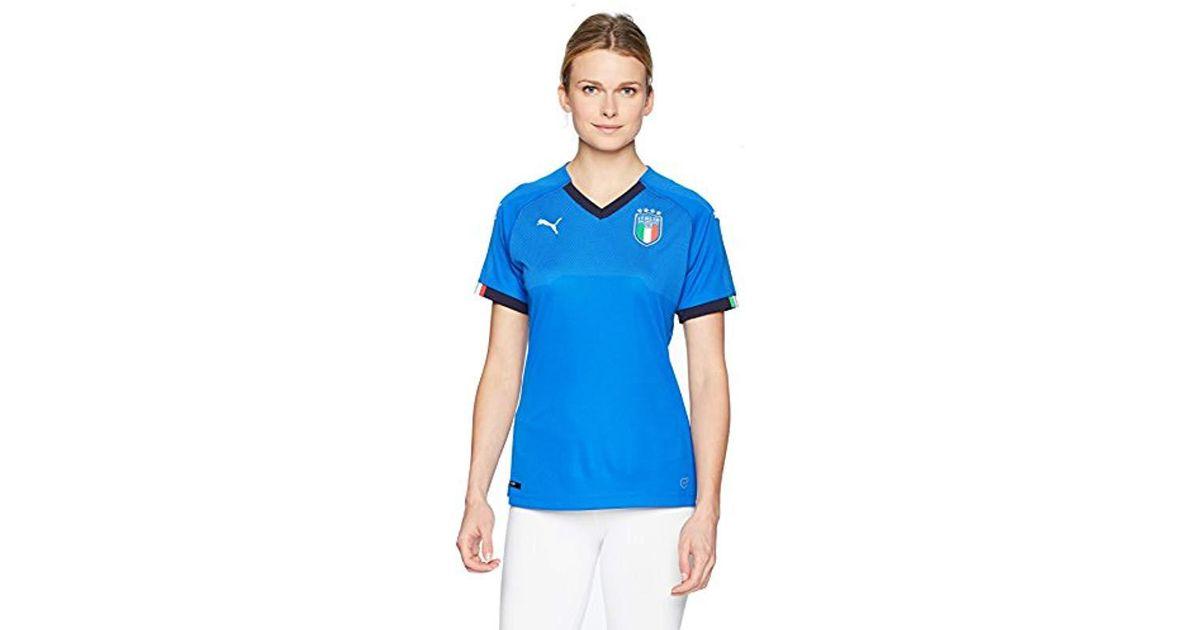 PUMA Womens FIGC Italia Home Shirt Replica