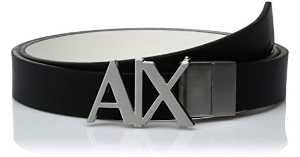 130ff1e4 Armani Exchange | Blck X Hinge Belt, Blck/white