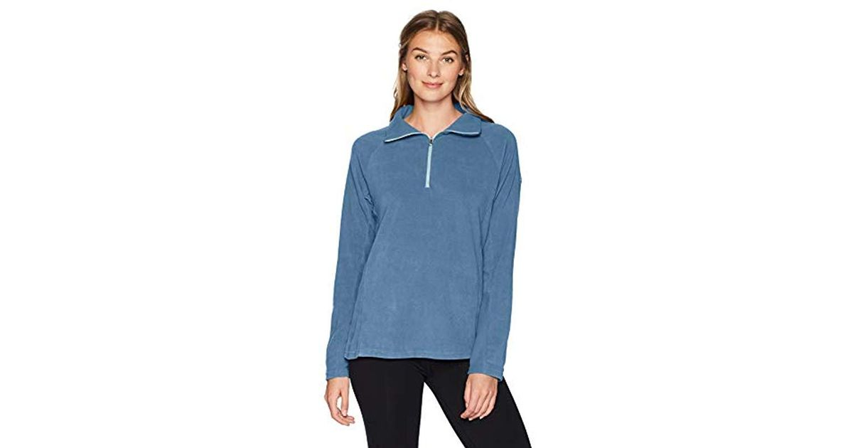 4c064383f Columbia Blue Glacial Iv Half Zip, Soft Fleece With Classic Fit