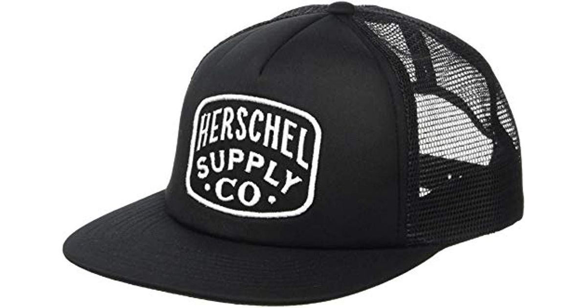 d6f3789bb1c Lyst - Herschel Supply Co. Whaler Mesh Patch in Black for Men