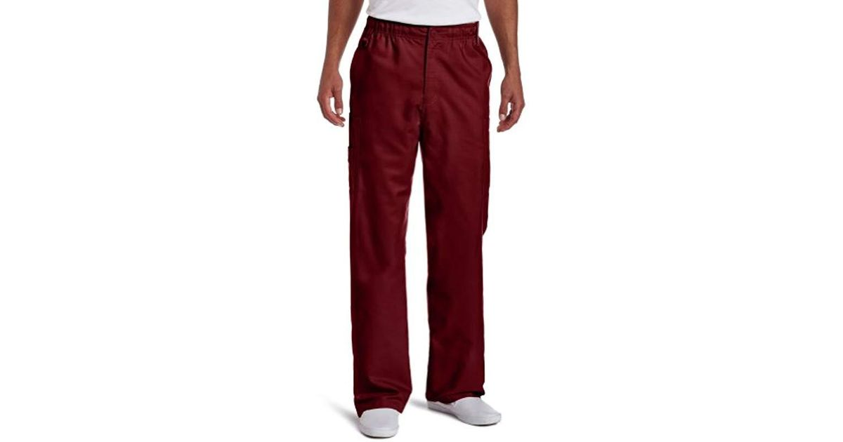 c47354d23d0 Lyst - Dickies Big & Tall Everyday Utility Scrub Pants in Red for Men