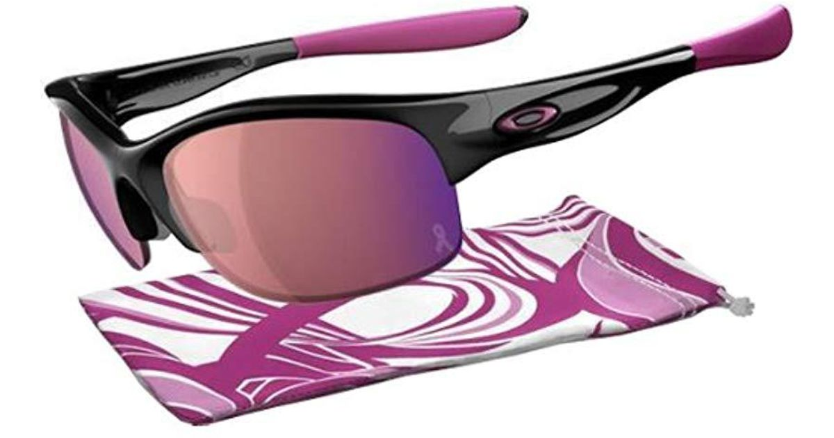 0206b40267a Lyst - Oakley Commit 24-330 Iridium Rimless Sunglasses in Pink