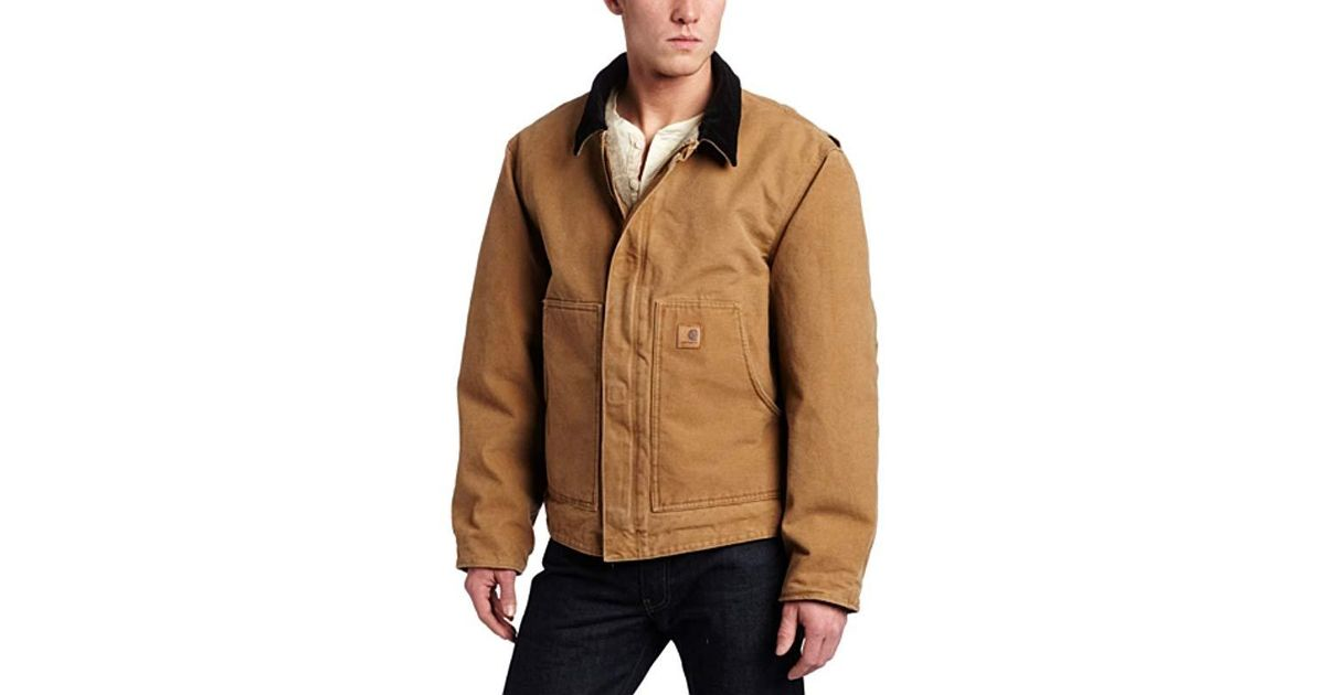 2c4a83641ba Lyst - Carhartt Big & Tall Sherpa Lined Sandstone Dearborn Jacket in Brown  for Men