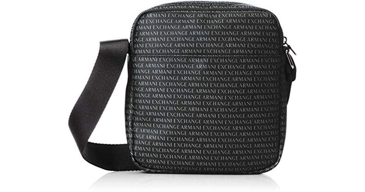 53fde676a1f9 Lyst - Armani Exchange Logo Shoulder Bag Black in Black for Men - Save 25%