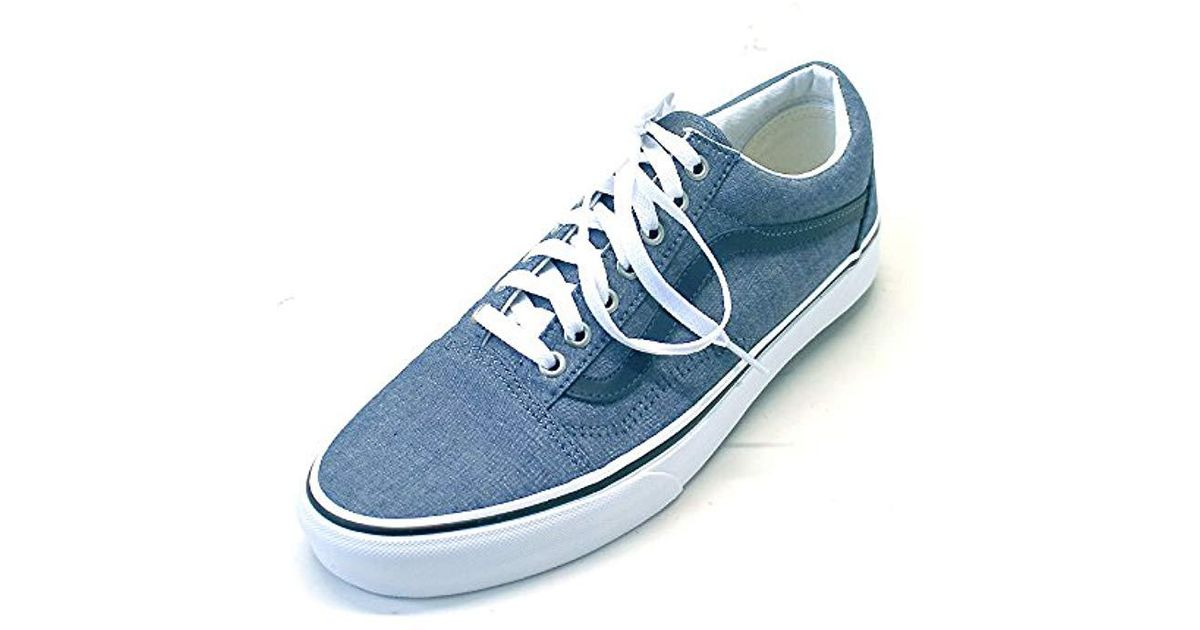 494a6923f3618c Lyst - Vans Unisex Old Skool Classic Skate Shoes in Blue