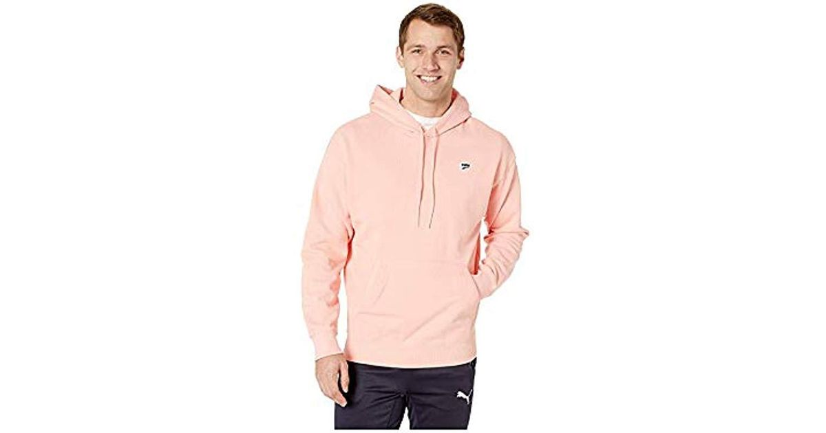 PUMA Pink Downtown Hoody for men