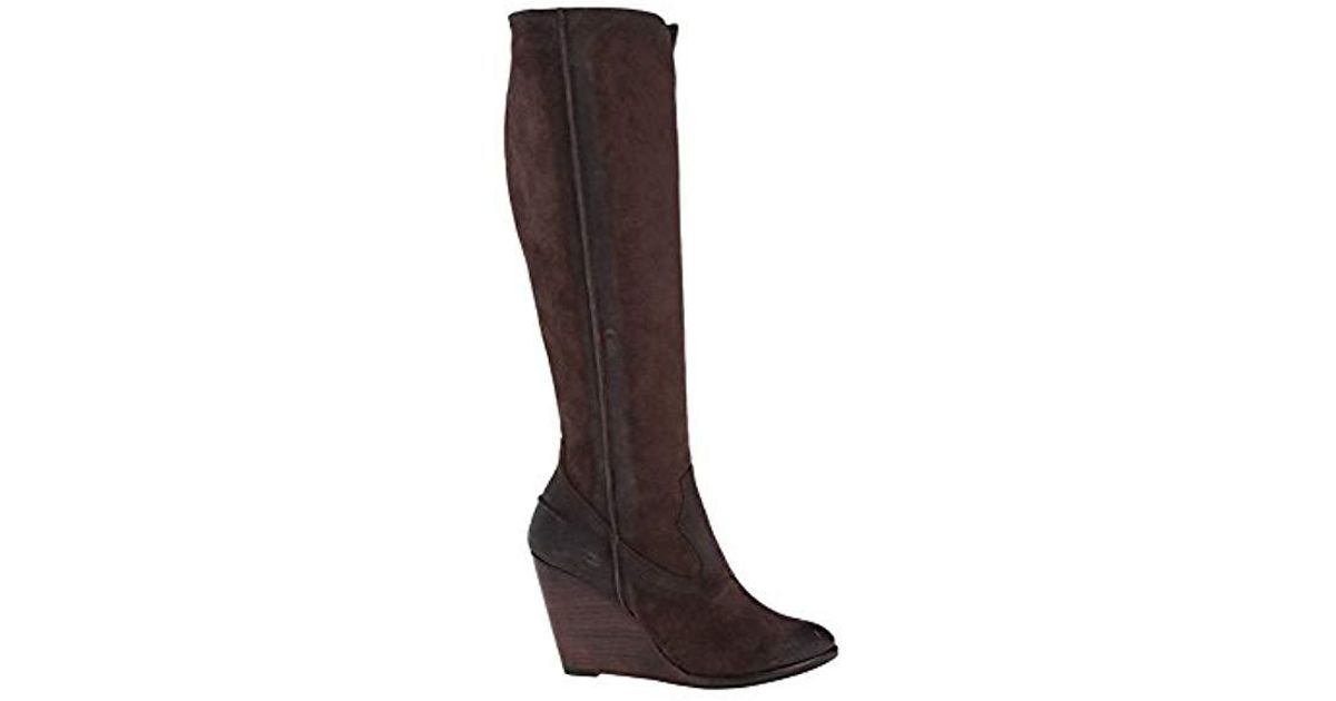 63c8284bbb5 Lyst - Frye Cece Seam Tall Boot in Brown