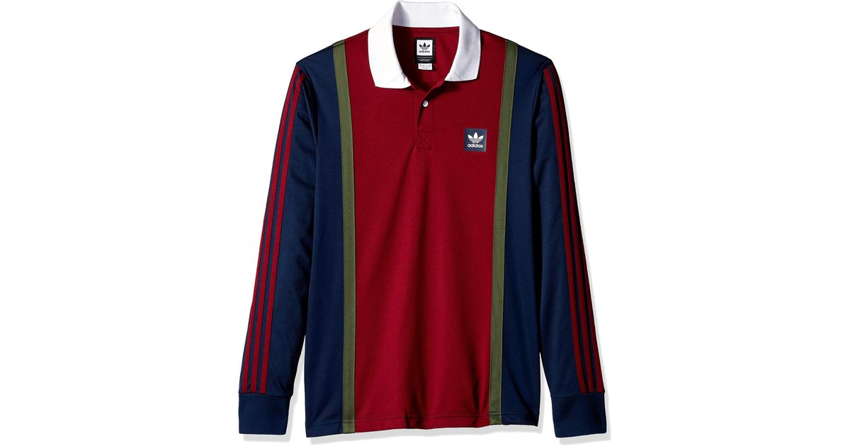 adidas Originals Skateboarding Rugby Jersey in Red for Men - Lyst