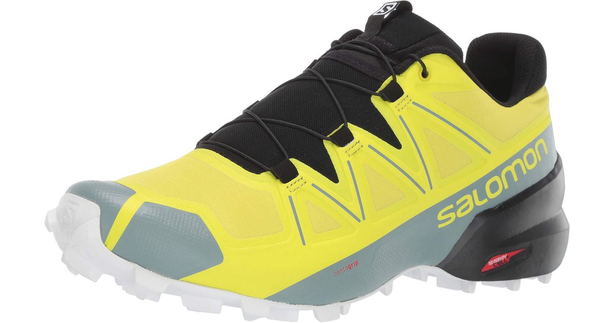 salomon trail running shoes wide yellow