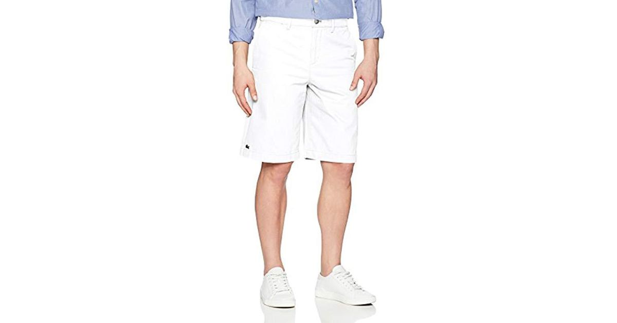 FH7421 Lacoste Mens Regular Fit Chino Bermuda Shorts
