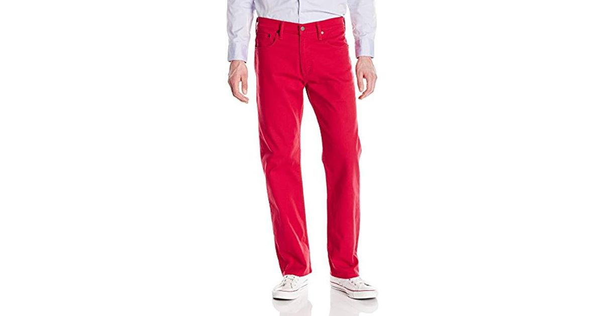 d76942b5deb Levi's 569 Loose Straight Leg Jean, Scooter-bull Denim-stretch, 31 32 in Red  for Men - Lyst