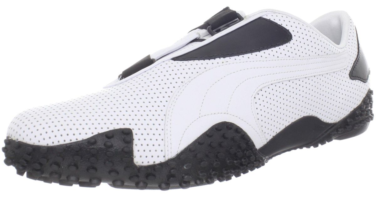 PUMA Mostro Perf Leather-u in White/Black (Black) - Lyst