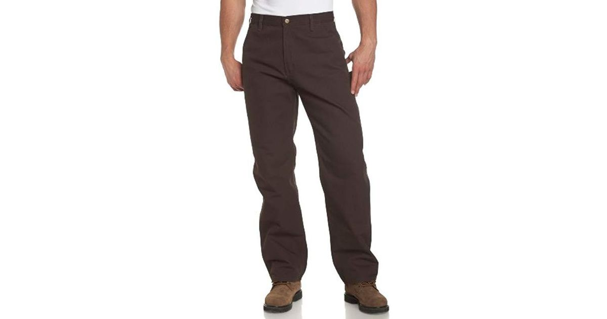 a3b7fd32ff Lyst - Carhartt Big & Tall Washed Duck Work Dungaree B11 in Brown for Men