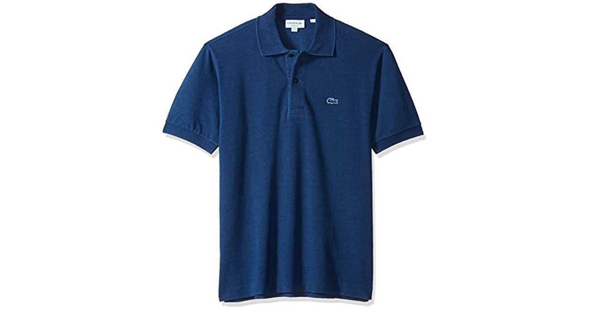 Lacoste Mens Short Sleeve Reg Fit Indigo Pique Blue Pack Polo