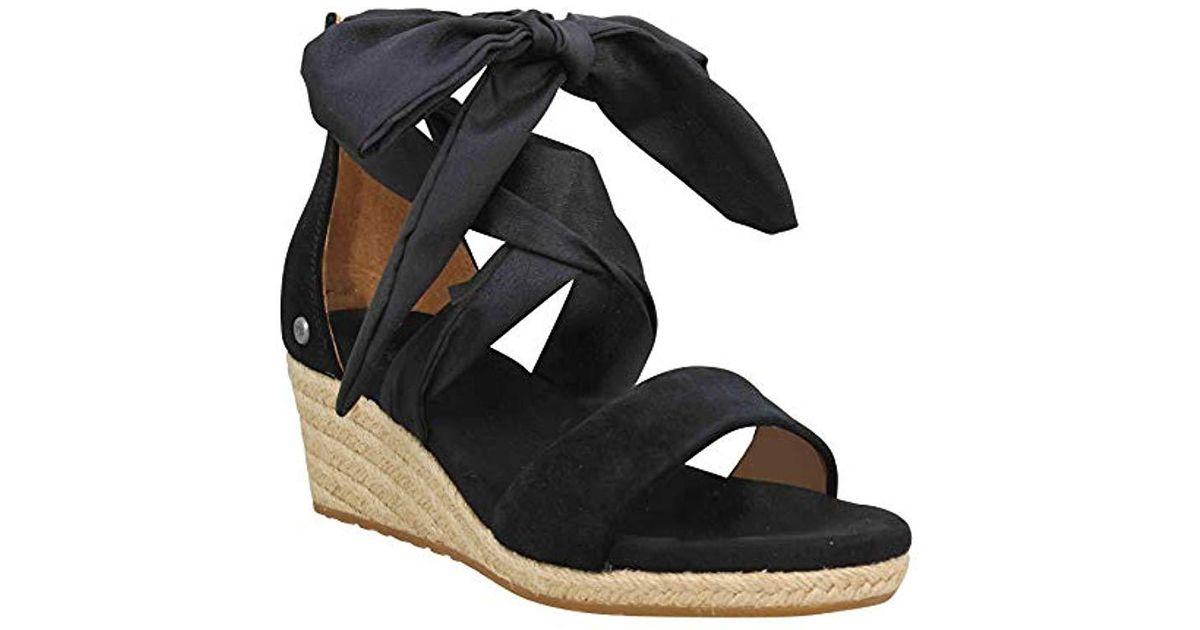 ed25c60234d Lyst - UGG Trina Wedge Sandal in Black