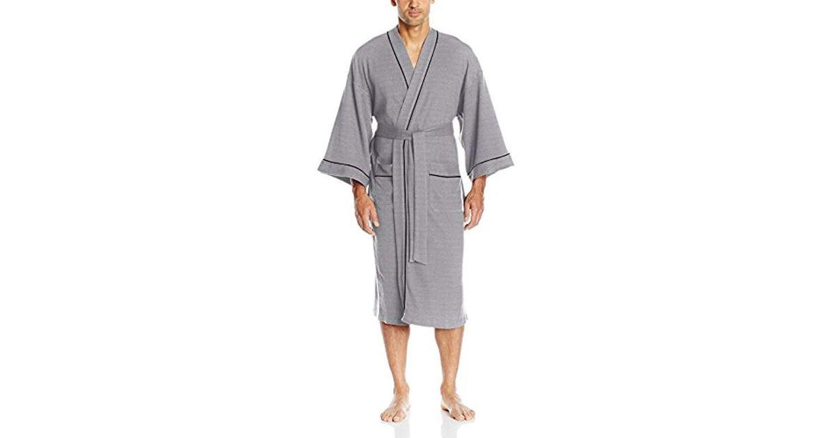 Izod Mens Nailhead Texture Knit Robe Bathrobe