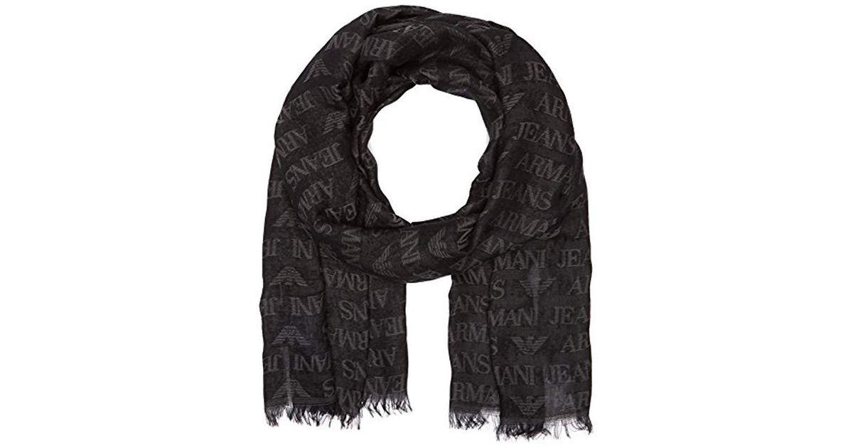 autentico dettagliare migliore qualità Armani Jeans 93450500020 Sciarpa Man in Black for Men - Lyst