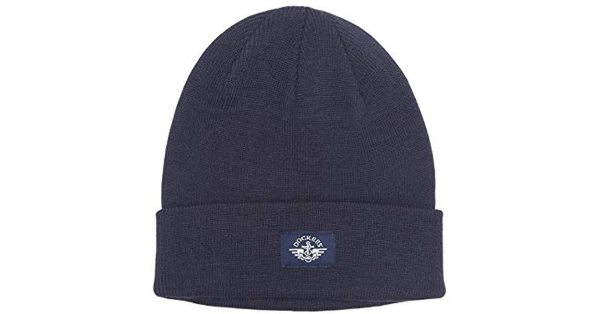 663f37500d6 Lyst - Dockers Rib-knit Beanie in Blue for Men - Save 40.0%