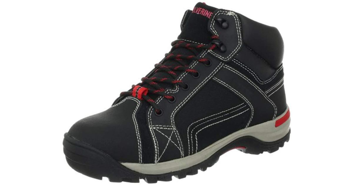 4754df5dcd5 Wolverine Black Chisel Mid Steel-toe Eh Work Boot for men