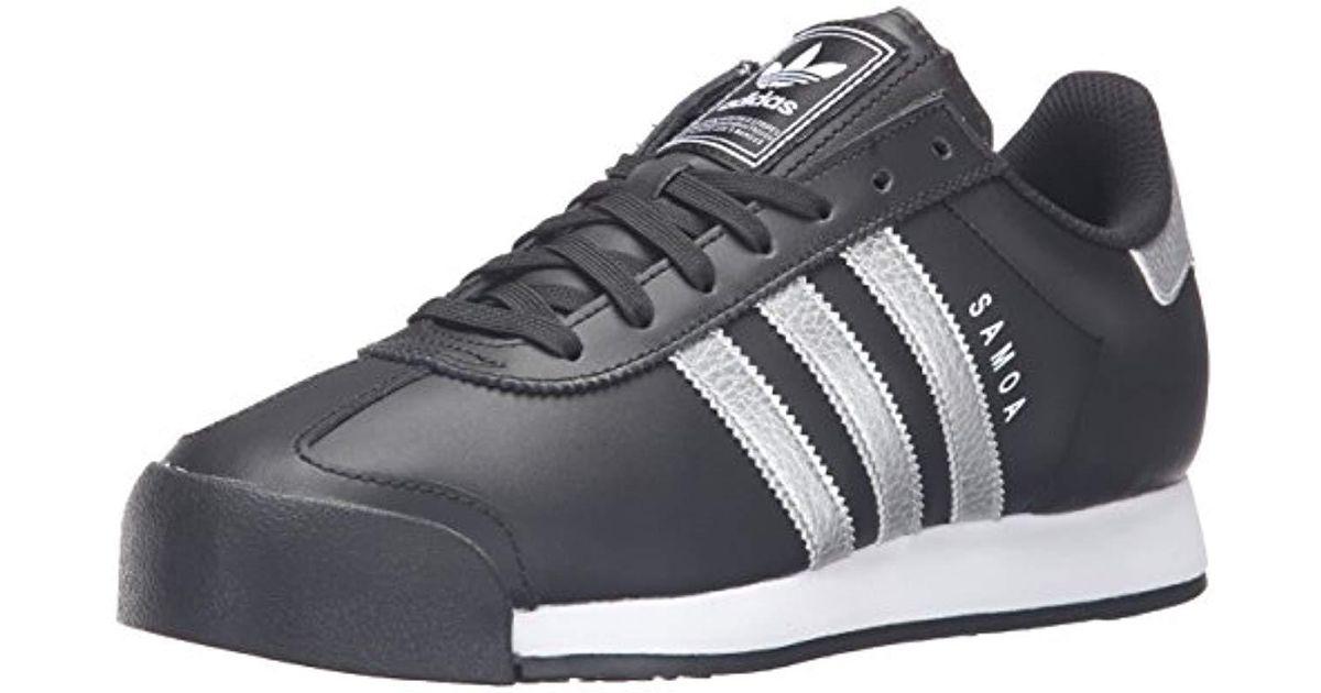 wholesale price available famous brand Adidas Originals Multicolor Adidas Samoa Black White S Trainers,  Black/metallic Silver/white, 10.5 Uk for men