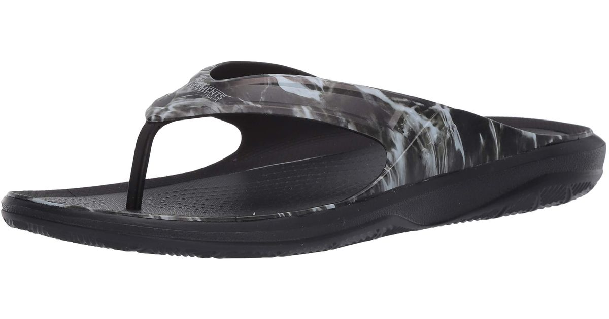 CROC Mens Swiftwater Wave Flip Flop|Casual Summer Sandal|Beach and Shower Shoe