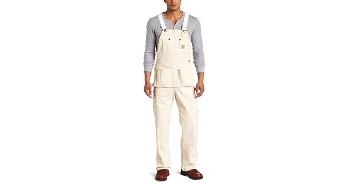 outstanding features latest selection of 2019 buy online Carhartt Natural Drill Carpenter Bib Overalls Unlined R29 for men