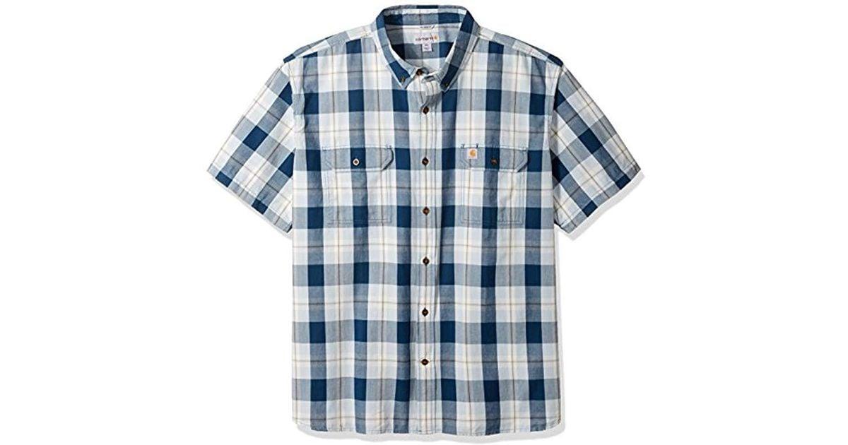 Carhartt Mens Big /& Tall Fort Plaid Long Sleeve Shirt Button Down Shirt