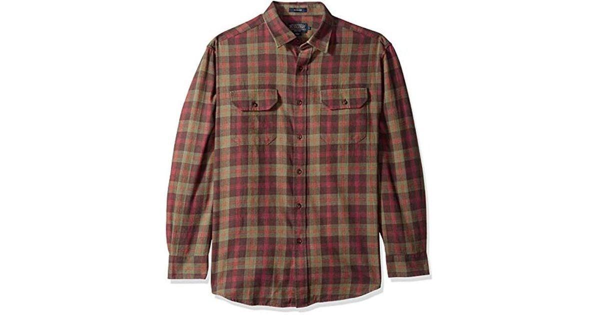 Pendleton Men/'s Long Sleeve Button Front Bridger Shirt