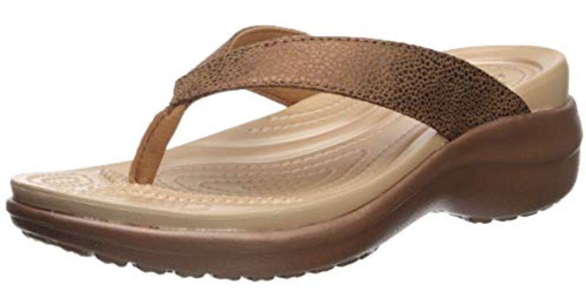 Crocs Wedge Metallictxt Flip Capri WSa FcKJT1l