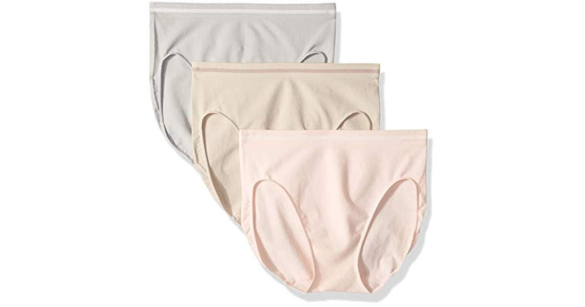 1ac884002b26 Lyst - Ellen Tracy 3 Pack Seamless Tipping Hi Cut Panty in Natural