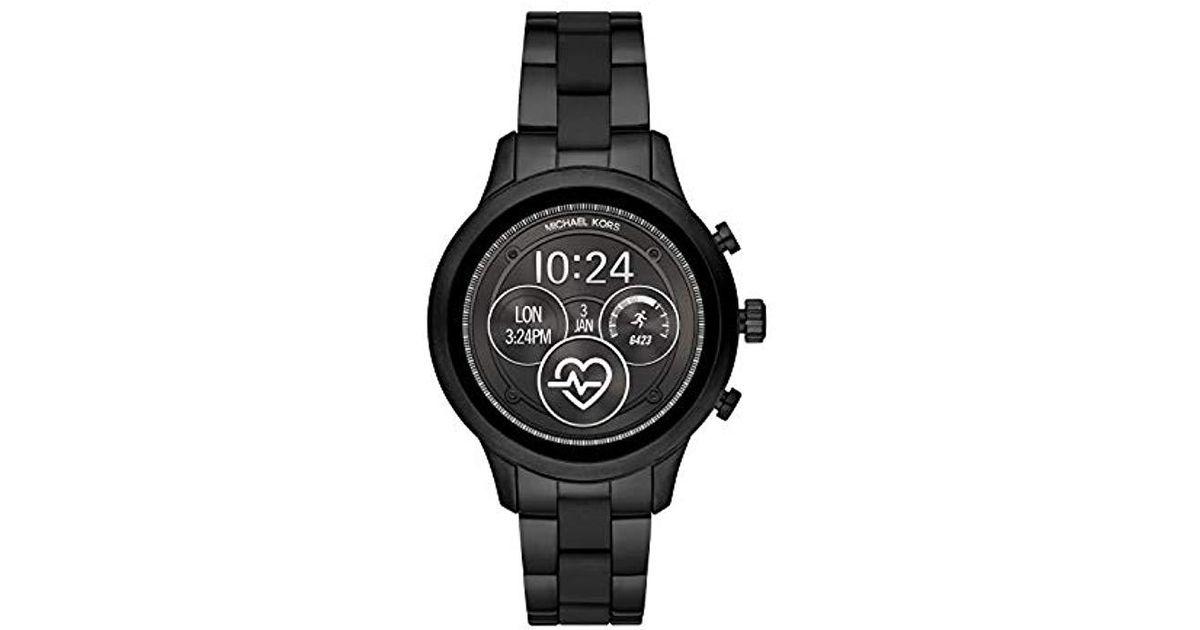 Michael Kors Black Access Runway Touchscreen Smartwatch For Men Lyst