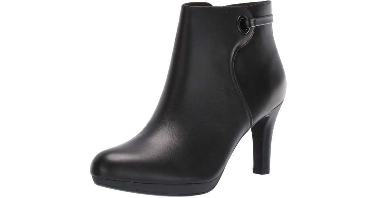 LADIES CLARKS ZIP SMART WORK CUSHION SOFT LEATHER HEELED ANKLE BOOTS ADRIEL MAE