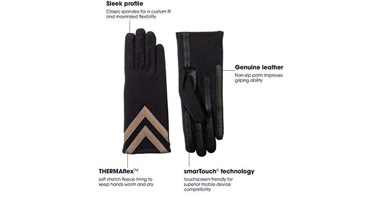 Brand New Boss Tech Knit Tech Gloves Isotoner for Touchscreens Black//Pink
